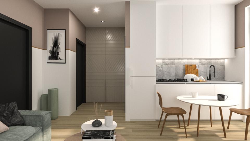 Дизайн интерьера апартаментов в Казбеги